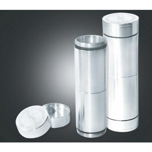 Metal Stash Case Magno Mix - H:10cm Silver