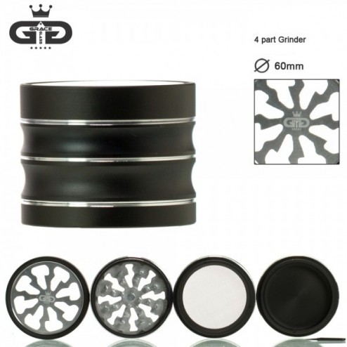 Grace Glass Grinder - Ø:60mm - 4Part - Silver