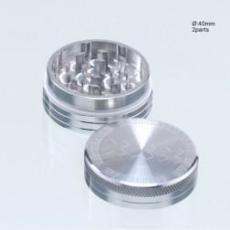 Amsterdam Grinder - Ø:40mm - 2part-Silver