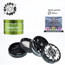 Magno Mix Herbal Grinder - 4part - Ø:55mm - Mix Colors
