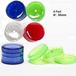 Acrylic Grinders - Ø:50mm - 4part - Mix Colors