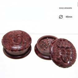 Buddha Rosewood Grinder - 2part - Ø:45mm - Wood