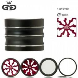 Grace Glass Grinder - Ø:60mm - 4Part - Red
