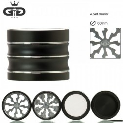 Grace Glass Grinder - Ø:60mm - 4Part - Silver