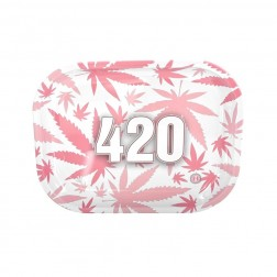 HQ Metal rolling tray - 420 Pink