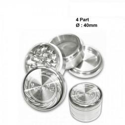 Magno Mix Grinder - 4part - Ø:40mm - Silver