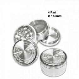 Magno Mix Grinder - 4part - Ø:50mm - Silver