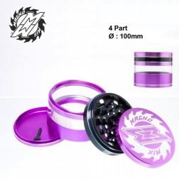 Magno Mix Window Grinders - 4part - Ø:100mm - Purple