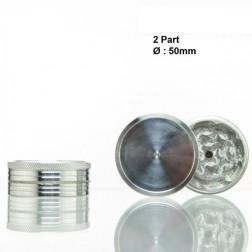 Metal Grinder - 2part - Ø:50mm - Silver