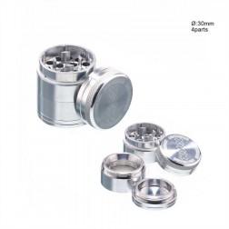Amsterdam Grinder - Ø:30mm - 4part-Silver