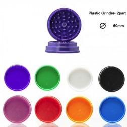 Plastic Grinder - 2part - Ø:60mm - Mix Colors